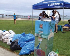 Surfrider Foundation removed 2,372 pounds of trash and 195 pounds of recycling from four popular San Diego beaches in the annual post-Fourth of July Morning After Mess cleanup.