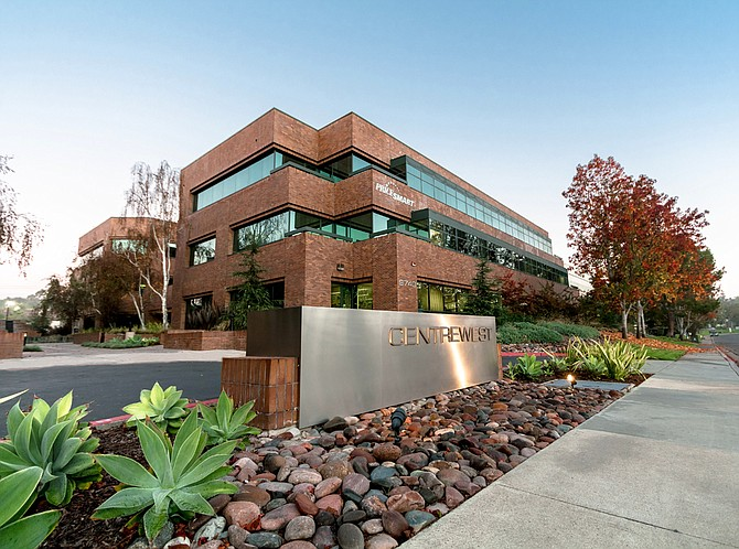 Large office property deals of the second quarter included Cornerstone Real Estate Advisers' purchase of the two-building CentreWest Plaza office park in Sorrento Mesa, for $29.2 million.