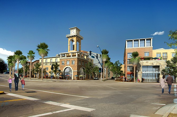 Plans for the $200 million Park Station, a mixed-use development proposed for downtown La Mesa, include residential, retail and hotel elements.