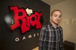 Dustin Beck at Riot Games in Santa Monica.