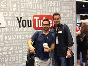 Claude Shires, left, and Josef Holm at TubeStart in Santa Monica.