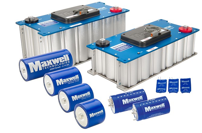 Maxwell's ultracapacitor stores energy for use in hybrid buses, trucks and cars. Ultracapacitors deliver bursts of energy to hybrid vehicles during peak power use, then store energy and capture excess power that otherwise would be lost. They help reduce fossil fuel consumption and air pollution.