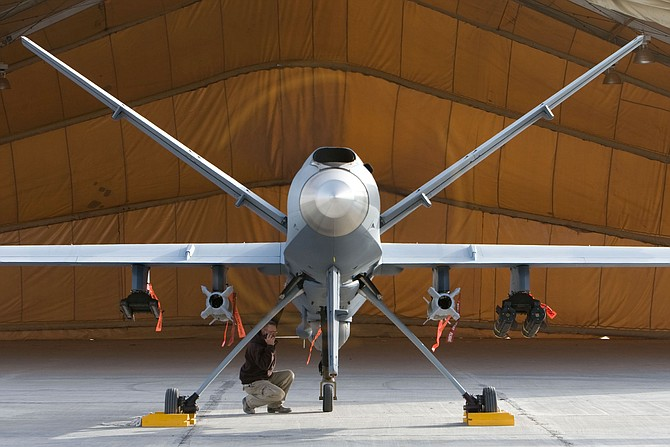 San Diego-based General Atomics Aeronautical Systems Inc.'s unmanned vehicle, the Reaper.