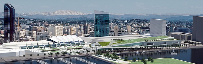 The planned $520 million expansion of San Diego Convention Center would add approximately 400,000 square feet of meeting areas, along with a rooftop park and other amenities.