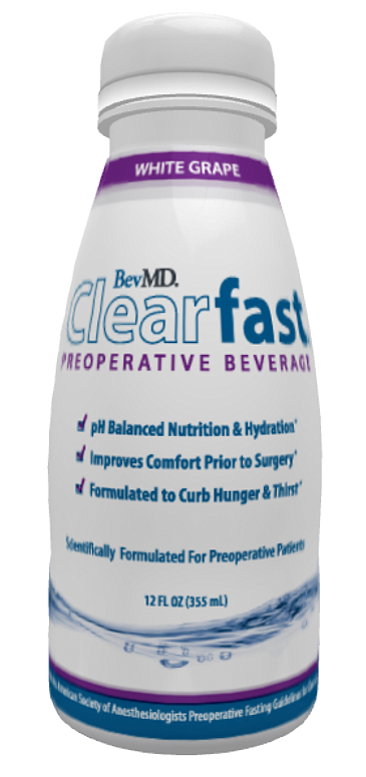BevMD developed a carbohydrate rich drink to ease a surgery patient's discomfort due to hunger, anxiety and dehydration. It's a tool doctors can give patients that makes it easier for them to comply with the pre-operative fasting protocol.