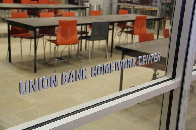 The homework center in the new San Diego Central Library bears Union Bank's name after it pledged $300,000 to support it.