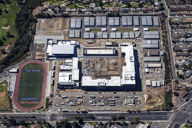 Lusardi Construction Co. is nearing completion of the $180 million San Marcos High School, which is a seven-building, 425,000-square-foot campus on 45 acres and will house 3,400 students.