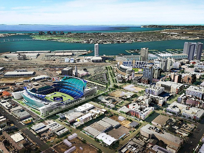 The San Diego Chargers, which proposed this concept in 2011 for a stadium in East Village, are in active discussions with its investment partners and the city regarding ways to finance a stadium-only or mixed-use development.