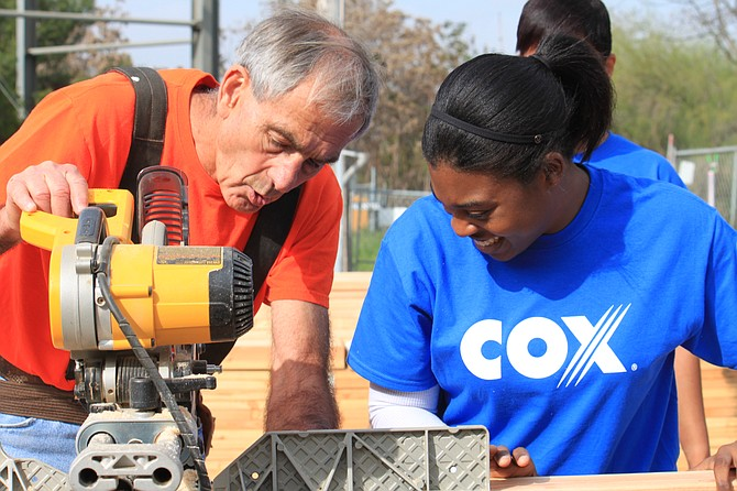 Cox Communications Inc. employees are working with Habitat for Humanity to build a home for a military family in Lakeside this year.