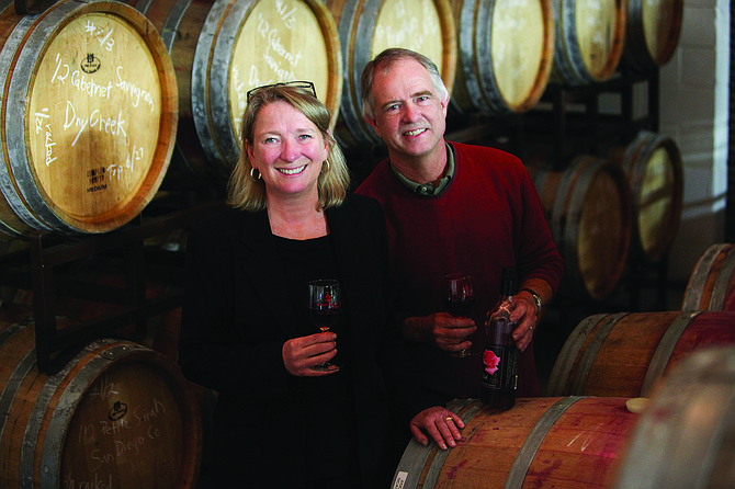 Linda and Mike McWilliams are owners of San Pasqual Winery in La Mesa, one of nine urban wineries — and counting — in San Diego County. The couple had sought to buy a wine bar before the concept of urban wineries got their attention.