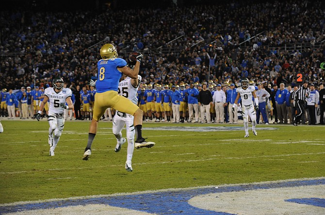 The 2012 Holiday Bowl, the last one with Bridgepoint Education as the title sponsor, saw the Baylor University Bears upset the UCLA Bruins 49-26. The game drew 55,507 fans to Qualcomm Stadium.