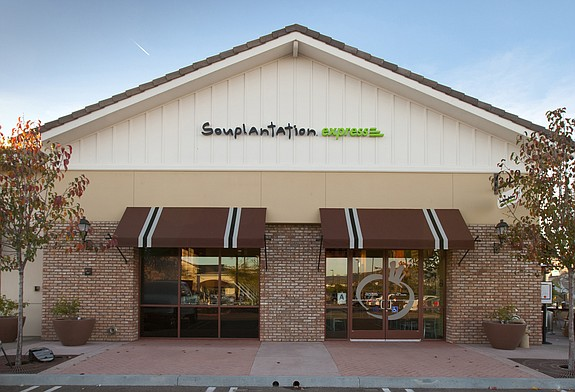 """Locally based Garden Fresh Restaurant Corp.'s 128 restaurants include this  Souplantation Express in Carlsbad's Bressi Ranch neighborhood, which was the first location of company's """"Express"""" concept rolled out in 2011."""