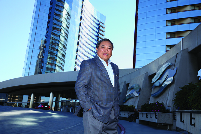 Tuni Kyi is general manager of the San Diego Marriott Marquis & Marina, one of several hotels undergoing renovations.