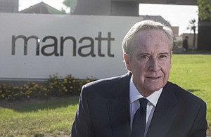 Partner George Kieffer outside the West L.A. office of Manatt Phelps & Phillips, where he heads the government and regulatory affairs practice.