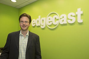 EdgeCast's James Segil at the Santa Monica content delivery network.