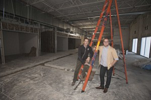 Chris Graves, left, and Paul Mareski at Team One's future HQ in Playa Vista.