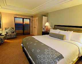 A suite at the Waterfront Beach Resort in Huntington Beach