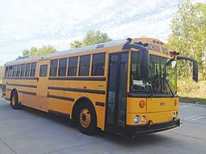 TransPower uses this school bus to demonstrate the effectiveness of its electrical power systems.