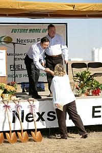Justin Lee at the groundbreaking for Nexsun Ethanol in Ulysses, Kan.