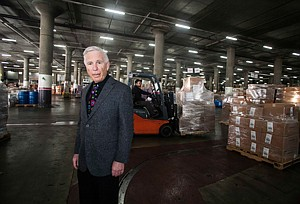 Owner and Chief Executive Ron Massman at Dependable Cos.' warehouse in East Los Angeles.