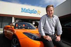 Inside's Jason Calacanis outside the Culver City office of Mahalo in a 2009 photo.
