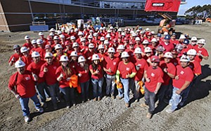 McCarthy Building Companies Inc. employees and subcontractors participated in the American Heart Association's National Wear Red Day campaign to bring awareness to heart disease in women.