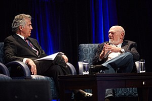 Billionaire investor Sam Zell, chairman of Equity Group Investments, spoke during the keynote session of the University of San Diego's annual real estate conference.