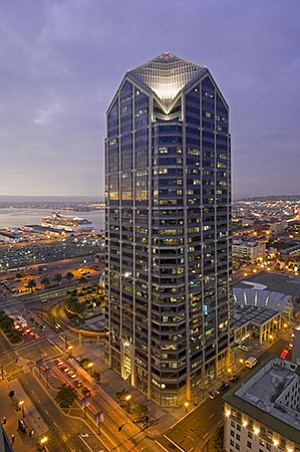 Irvine Co.'s One America Plaza in downtown San Diego was the largest local project to receive LEED certification during 2013.