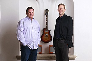New Slacker Inc. CEO Duncan Orrell-Jones, right, has succeeded Jim Cady, left, who remains on the company's board.