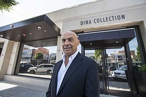 Yossi Dina outside his Dina Collection pawnshop in Beverly Hills.