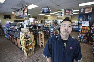 Frank Ahn at his Van Nuys shop.