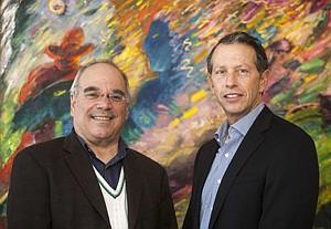 Marc Feldman, left, and Jerry Katz at Glaser Weil in Century City.