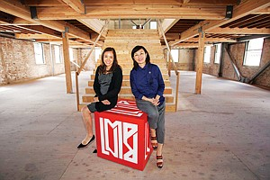 On the Move: Tanya Raukko, left, and Julia Y. Huang at Imprint Venture Lab's future headquarters in Long Beach.
