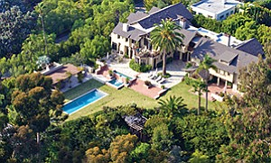 An aerial view of the historic Fox estate built by master architect William Hebbard in 1908 at 3100 Brant St. in Bankers Hill.