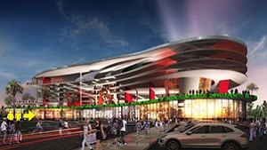 A development venture headed by Duty Free Americas Inc. is proposing a new mixed-use facility with ground-floor retail, 900 parking spaces.