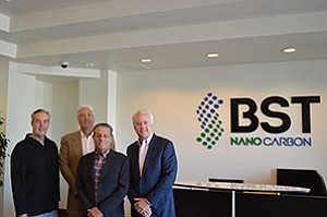From left, Gary Beck, Randy Beck, Richard Tambone and Paul Smithers are the founders of BST Nano Carbon.