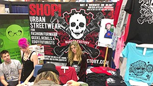 San Diego companies such as Danger Factory, which sells edgy apparel, are among regular annual booth-operators at Comic-Con International.