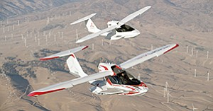 Edge-Tech's parts are used in Icon's sporty little amphibious plane that has two seats and folding wings. It can be towed on a trailer behind a pickup truck like a boat.