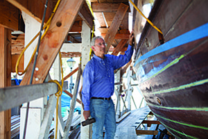 Mark Montijo is the project manager for construction of the San Salvador, which will be the 10th ship at the Maritime Museum of San Diego.