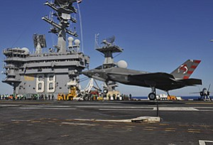 Northrop Grumman and Cobham Defence Electronics are among local operations working on the F-35 program, which achieved a milestone recently when a new fighter jet landed on the USS Nimitz.