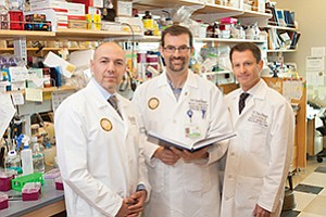 Dr. Ezra Cohen, from left, Dr. Rafael Bejar and Dr. Scott Lippman of the University of California, San Diego's Moores Cancer Center are key players in efforts in the region at finding innovative cancer treatments.