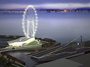 A local group has proposed a $200 million project called Skywheel at Discovery Point that would include a 400-foot Ferris wheel and an adjacent cultural pavilion and museum on the downtown San Diego waterfront.