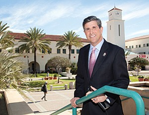 Mark Ballam oversees the Center for International Business Education and Research (CIBER) at San Diego State University. There are about 550 students in the program.