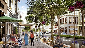 Seven years after it was first proposed, the One Paseo mixed-use project in Carmel Valley was approved Feb. 23 by the San Diego City Council. The $750 million development combines work-live-play elements intended to reduce car trips by having homes, shops and offices on the same property.