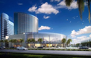 The latest addition to Marriott Marquis San Diego includes a two-level ballroom facility with a glass curtain wall overlooking San Diego Bay.