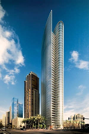 Bosa Development recently began work on a new 41-story residential condo tower, informally called Pacific & Broadway in downtown San Diego.