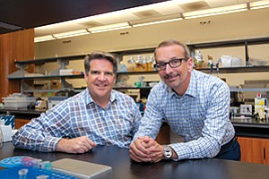 CEO Neil McDonnell, left, and Chairman and Co-founder Rich Heyman are leading a new biotech venture in San Diego, Metacrine.