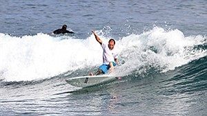 Italian surfer Fabrizio Passetti received one of 34 travel grants from the Challenged Athletes Foundation to compete in this month's championship.
