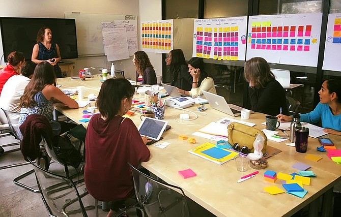 Female founders participate in a Hera Labs SCALE session hosted by entrepreneur in residence, Samantha Urban -- Photo courtesy of Hera Labs
