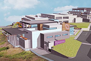 Medical device maker NuVasive Inc. is expanding its Sorrento Valley campus. Rendering courtesy of NuVasive Inc.